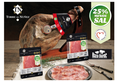 Torre de Núñez presenta en la feria internacional Meat Attraction su jamón serrano Duroc con contenido reducido en sal