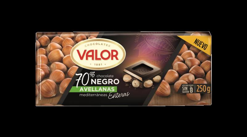Chocolates Valor presenta su tableta Negro 70% Avellanas