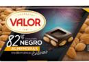 Valor, Chocolate Negro 82% con Almendras Mediterráneas Enteras