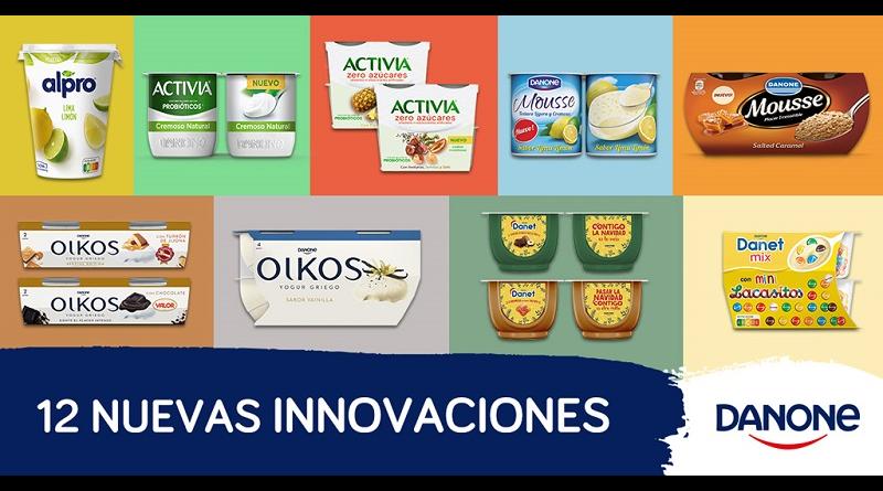 Danone sigue innovando este 2021con 12 nuevos productos